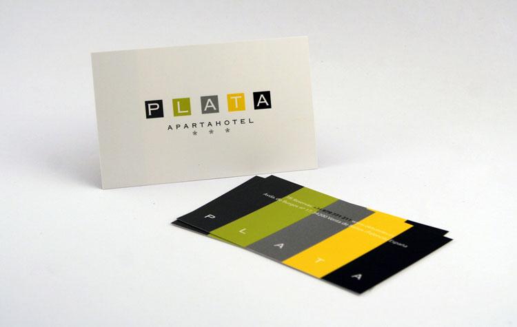 Identidad Corporativa Palencia- Tarjetas de visita Apartahotel Plata
