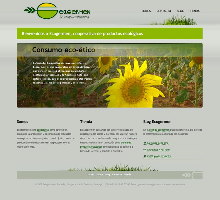 Dise o web valladolid ecogermen sociedad cooperativa de - Paginas amarillas de valladolid ...
