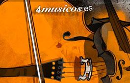 www.4musicos.es. Diseño web multimedia