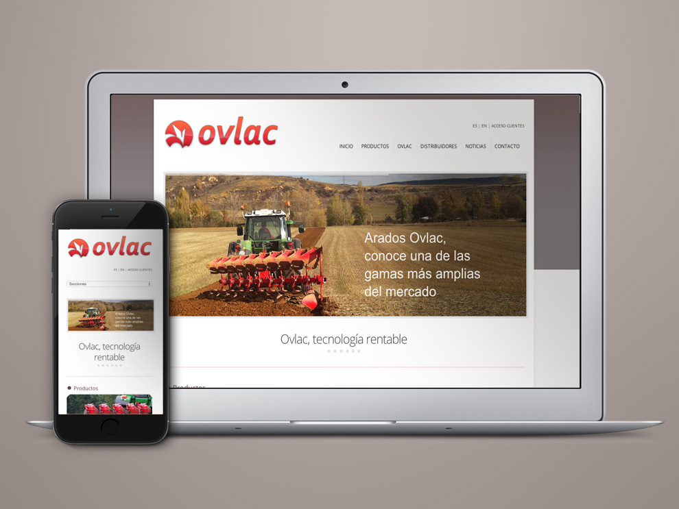 Diseño web e intranet para Ovlac