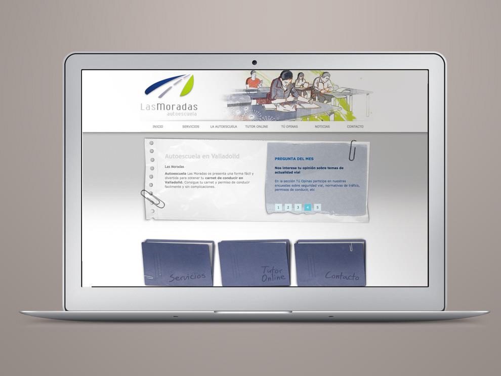 Diseño web autoescuela moradas Valladolid