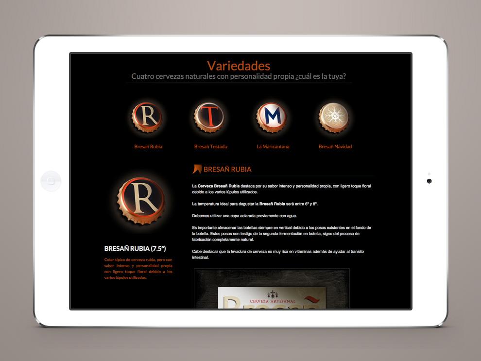 diseño web castilla y león: bresañ tienda online intercastilla