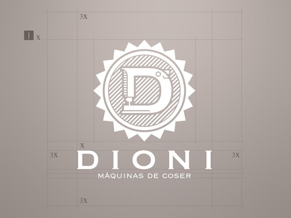 Logotipo Maquinas de Coser Dioni