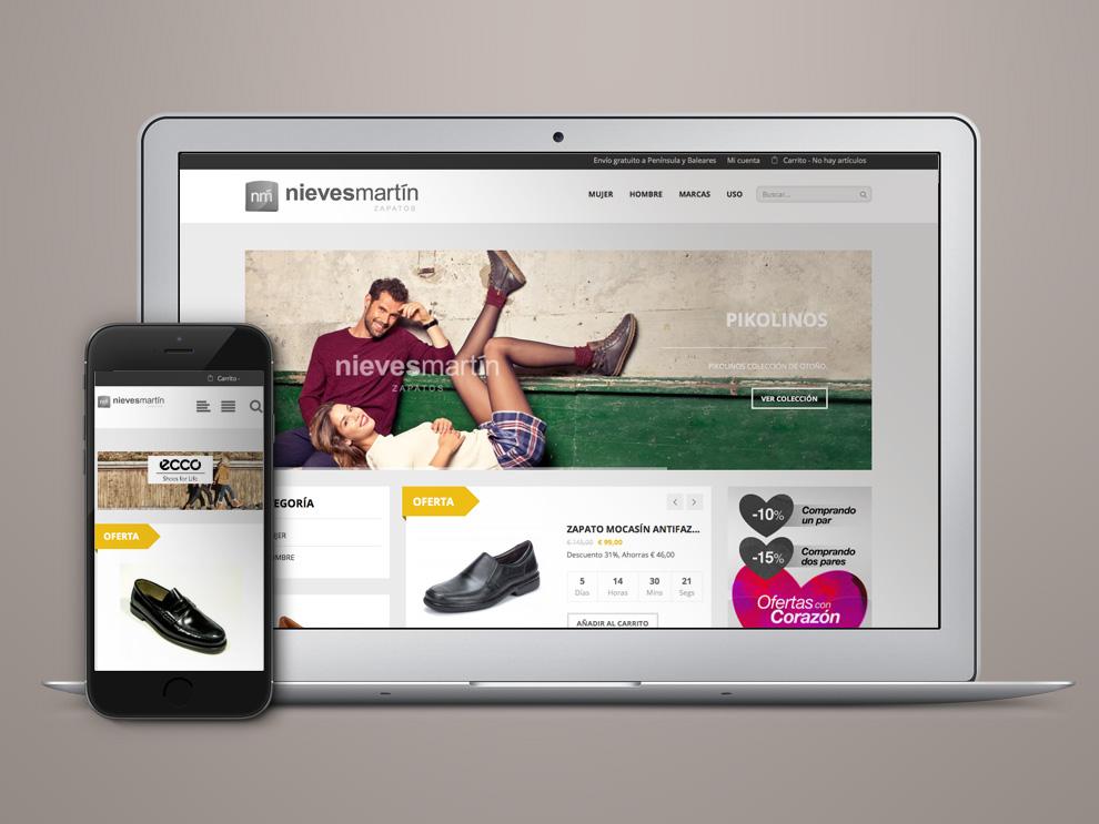 Crear tienda online Zapatos Nieves Martín