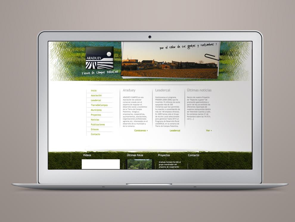 Diseño web Araduey Tierra de Campos Palentina