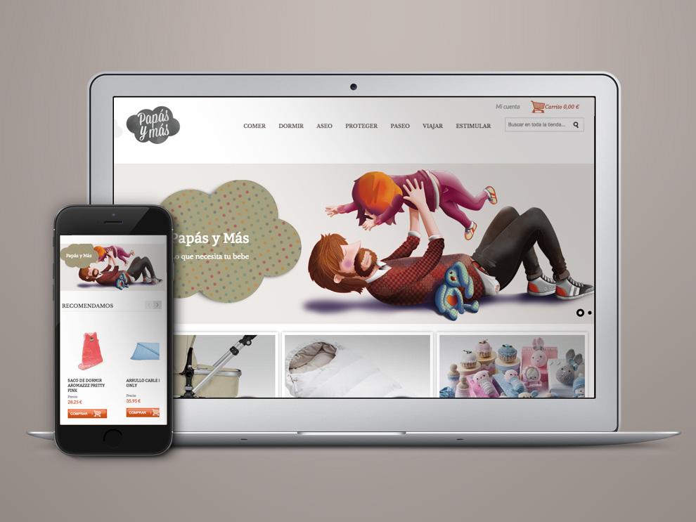 Diseño de Tienda Online, Papasymas