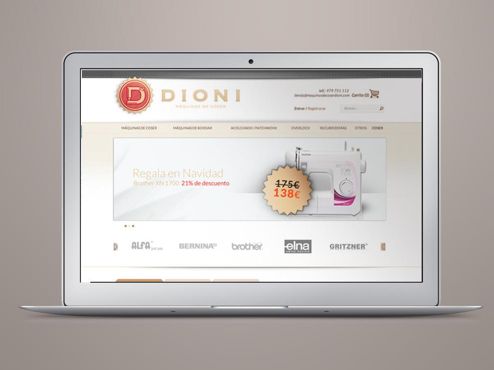 Diseño tienda online Palencia para Dioni