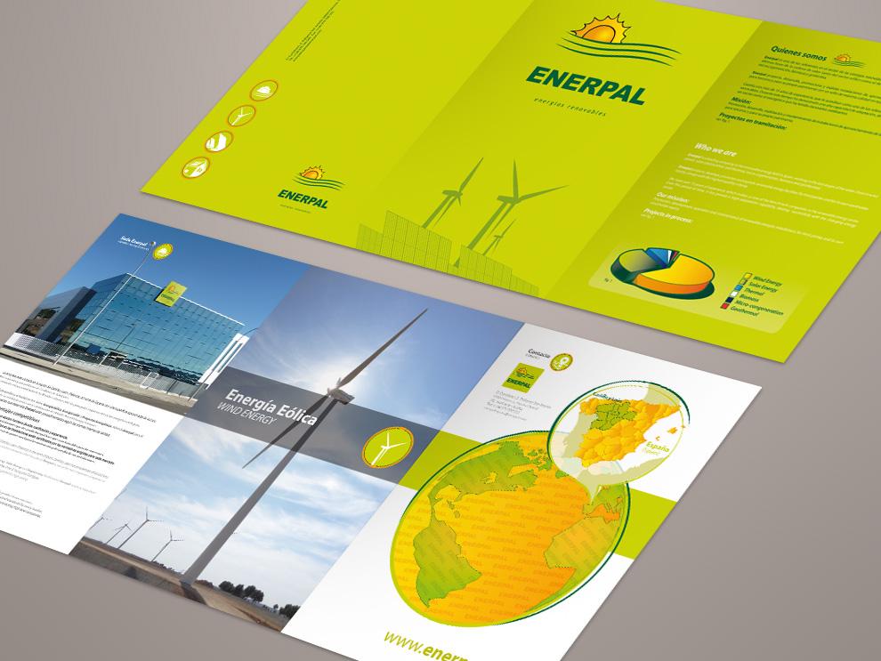 Diseño de dossier empresa Palencia, Enerpal