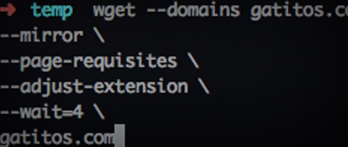 Cómo copiar una página web entera usando la línea de comandos