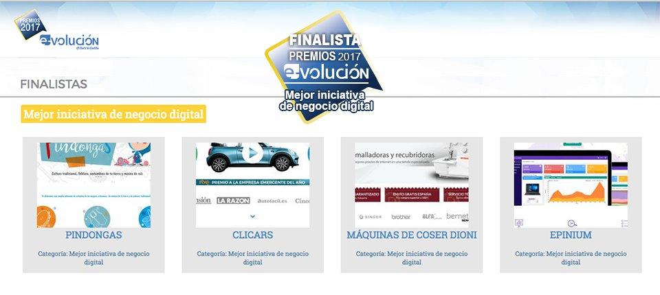 Finalistas de los premios e-volución negocio digital