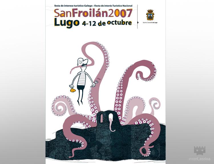 Diseño de cartel ilustración San Froilan 2007