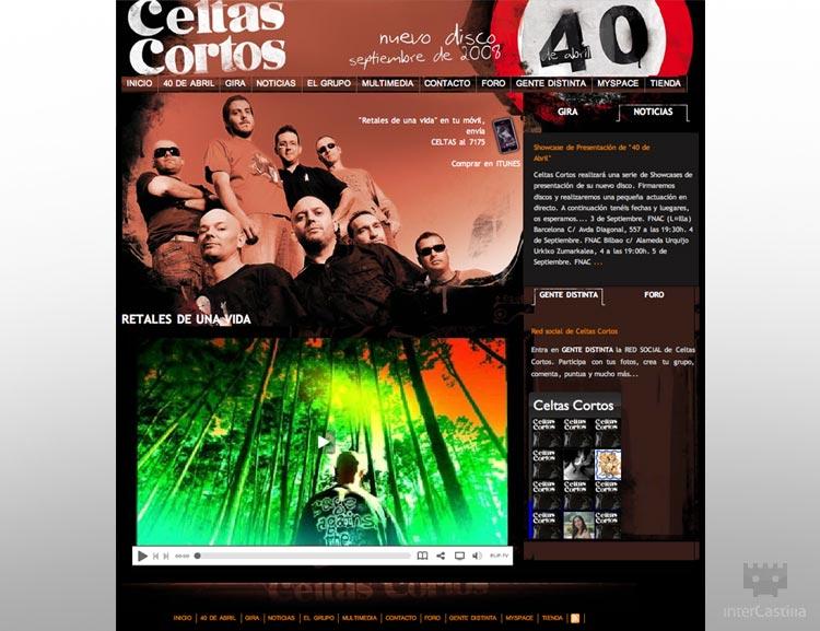 Diseño de páginas web en Valladolid – Celtas Cortos