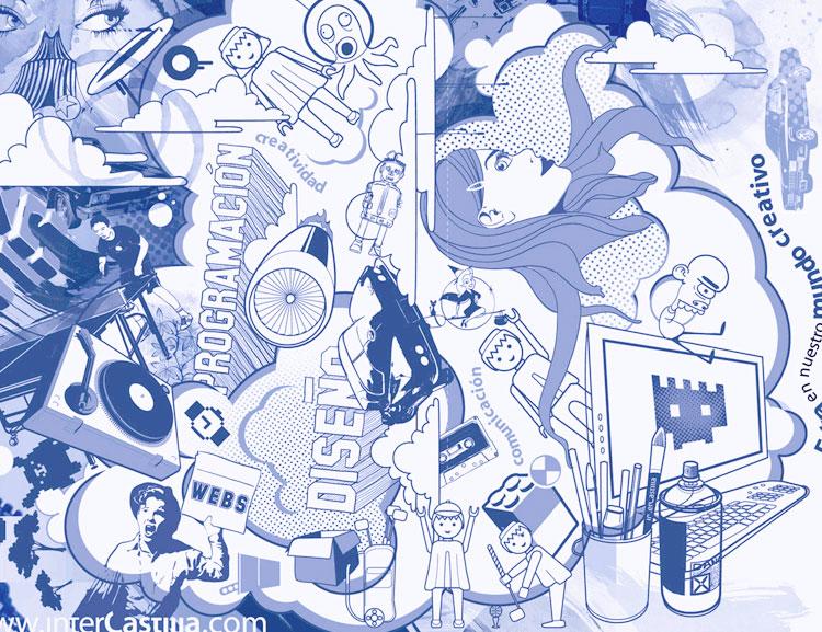 Diseño de Carpetas InterCastilla, Ilustración