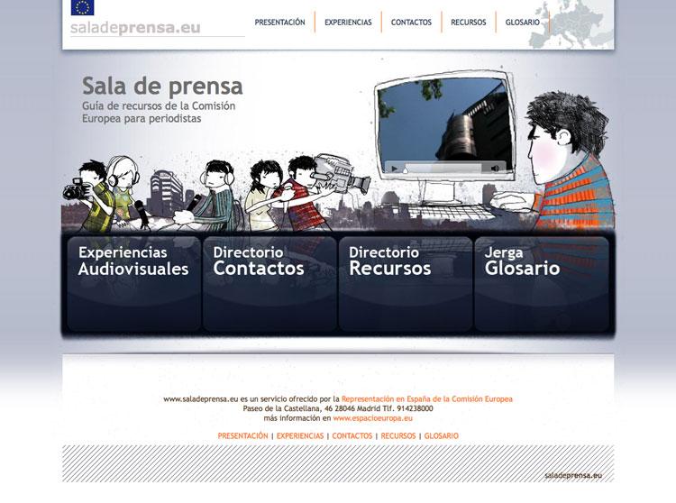 Diseño web + Ilustración = SaladePrensa.eu