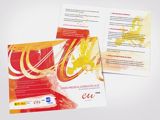 Diseño de Díptico presidencia Europea