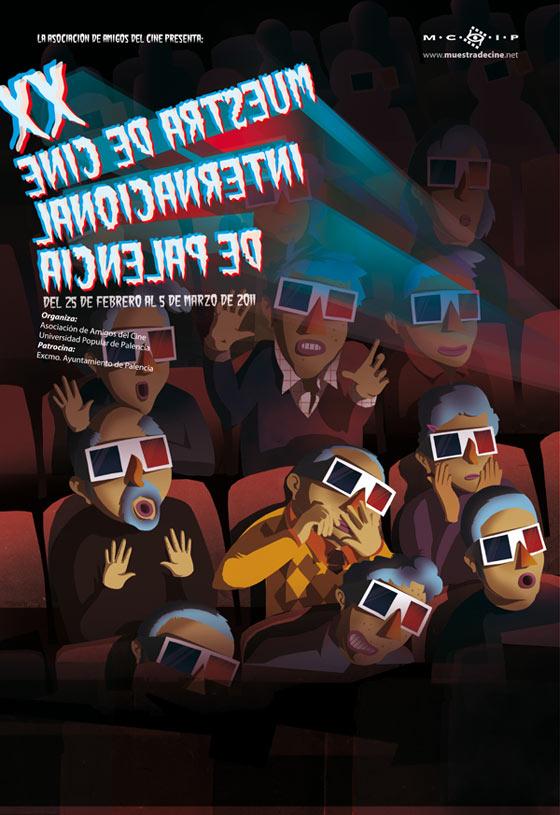 Cartel publicitario muestra de cine