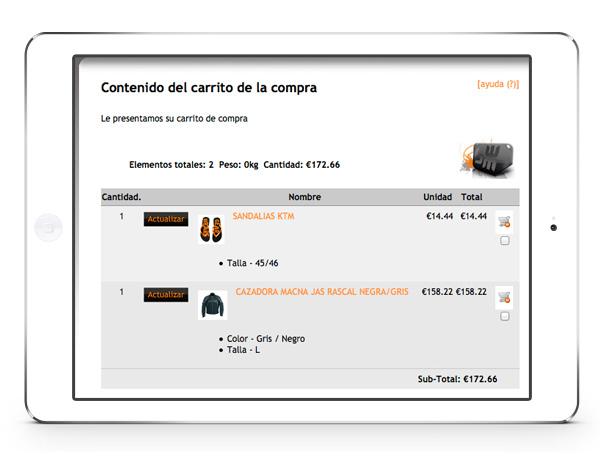 tiendas valladolid online autoadministrable carrito