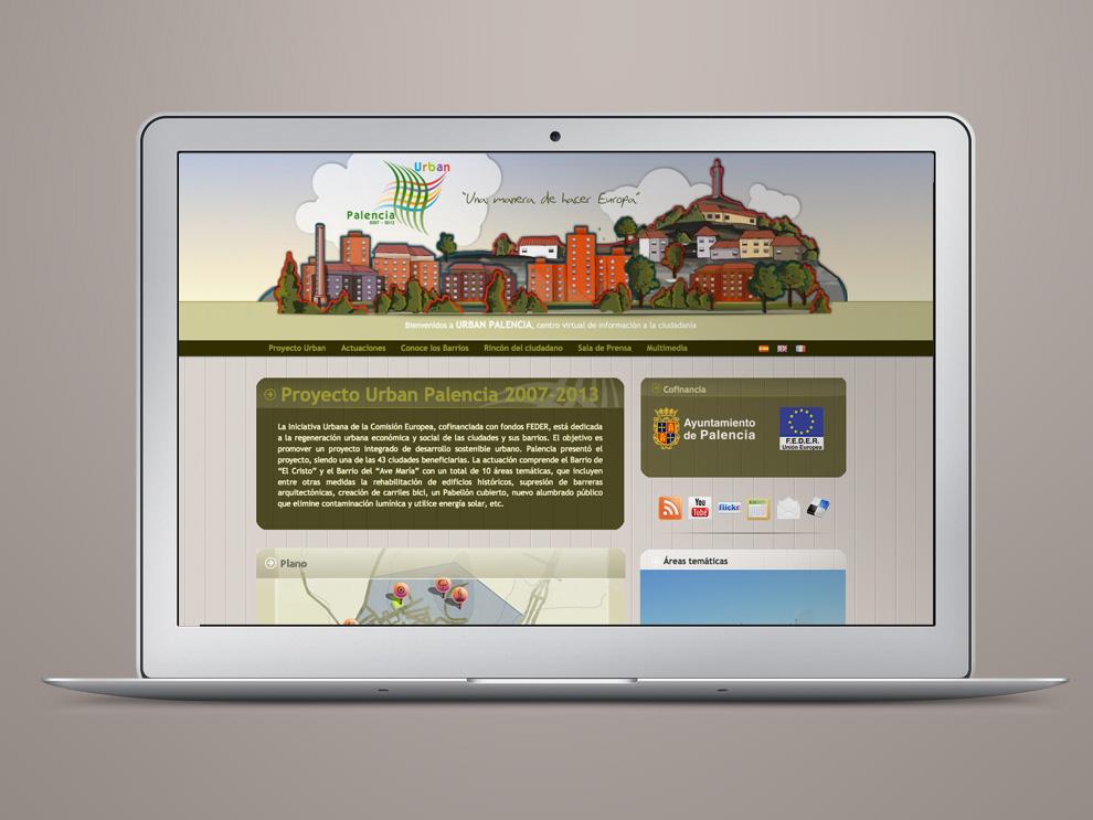 Proyecto Urban Palencia Diseño web