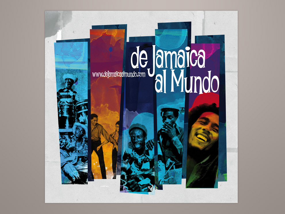 Diseño flyer Valladolid, de Jamaica al Mundo