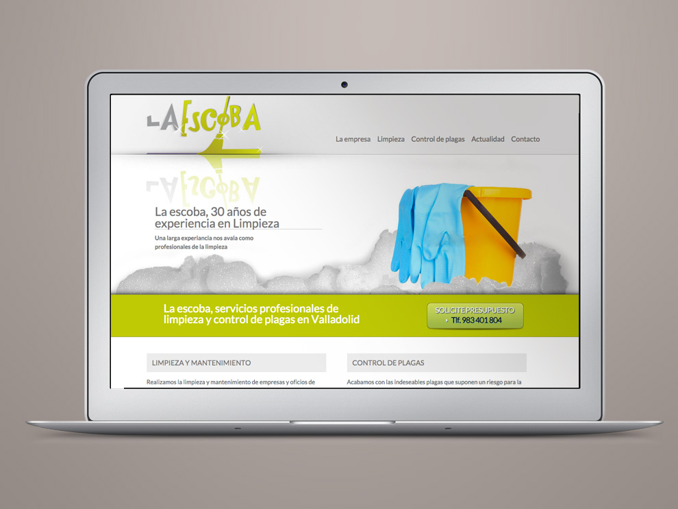 Diseño web en Valladolid, la escoba