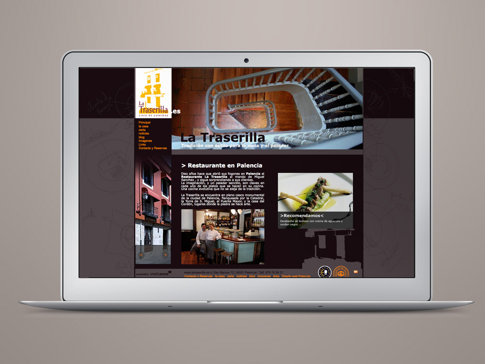Web Restaurante La Traserilla Palencia