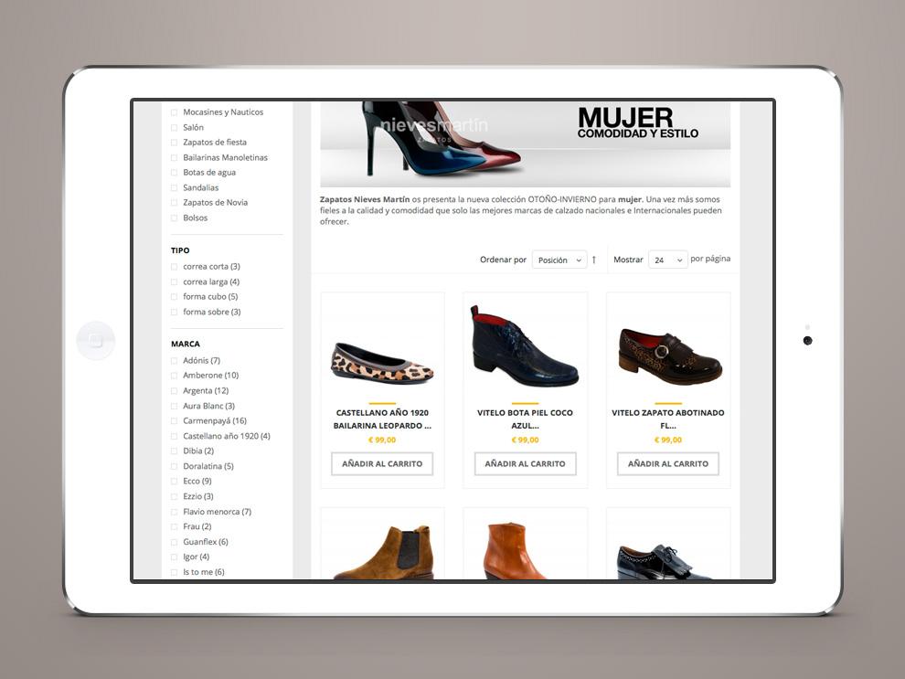 9616ca55 Crear tienda online Zapatos Nieves Martín Intercastilla Diseño y ...